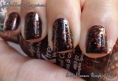 Sally Hansen Pumpkin Spice over black on black (sinfulcolors)