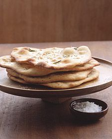 """See the """"Garlic-Rosemary Flatbread"""" in our Quick Bread Recipes gallery Rosemary Flatbread Recipe, Flatbread Recipes, Rosemary Recipes, Quick Bread Recipes, Cooking Recipes, Easy Bread, Pastry Recipes, Yummy Recipes, Healthy Recipes"""