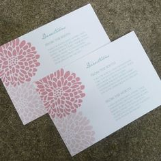 DIY Chrysanthemum Wedding Enclosure Card from #downloadandprint. Have this made in your #wedding colors! www.downloadandprint.com http://www.downloadandprint.com/templates/chrysanthemum-enclosure-card-template/ $9.00