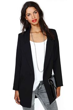 Stratospheric Blazer - Black | Shop Jackets + Coats at Nasty Gal
