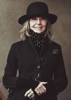 Diane'ss wrinks (Keaton, Photographed by Annie Leibovitz.