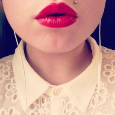 Monroe piercing. @Camille Blais Anders  I saw a lady who had one with a turquoise stud and it was so cute! Sometime next year we should seriously think about getting this together. :)