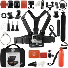 10. CamKix Accessory Starter Kit for Gopro Hero 4, Hero+ LCD, 3+, 3, 2 - Carrying Case