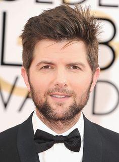 Adam Scott showed sexy scruff at the Golden Globes.