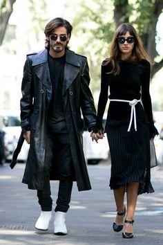Giotto Calendoli and blogger Patricia Manfield. Photo: Imaxtree.