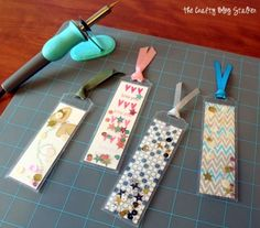 Using the Fuse Tool from We R Memory Keepers create awesome bookmarks for you and your kids. Create all sorts of awesome crafts with The Fuse Heat Tool. Fun Crafts, Crafts For Kids, Paper Crafts, Book Markers, We R Memory Keepers, Pocket Letters, Shaker Cards, Kirigami, Copics