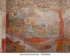 Ancient fresco at Pompei