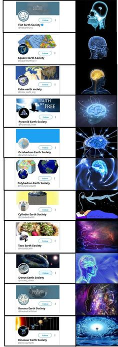 14 Memes That Put the Flat Earth Debate to Rest - CollegeHumor Post Best Funny Pictures, Funny Images, Funny Pics, Best Memes, Dankest Memes, Brain Meme, Earth Memes, Quality Memes, College Humor