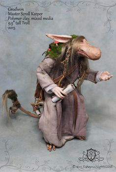 OOAK Nightswood Art Dolls: Master Scroll Keeper Grodwon