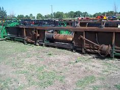 John Deere 630 header salvaged for used parts. This unit is available at All States Ag Parts in Salem, SD. Call 877-530-4010 parts. Unit ID#: EQ-24584. The photo depicts the equipment in the condition it arrived at our salvage yard. Parts shown may or may not still be available. http://www.TractorPartsASAP.com