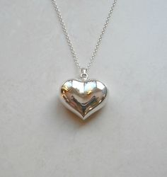 Sterling silver heart locket necklace heart shape locket pendant sterling silver heart locket necklace heart shape locket pendant silver locket tiffany inspired large heart simple jewelry amore mozeypictures Images