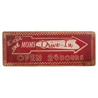 Moms Drive In Wood Sign http://www.retroplanet.com/PROD/38915