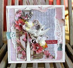 "Donna Salazar Designs: ""True Love"" Card by ~ Helana Johannson. A beutiful, mixedmedia card."