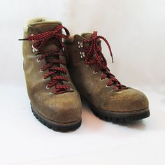 Vintage Italian Made Vasque Hiking Boots   Mountaineering Boots   Mens Size  11.5 By Leapinglemming On