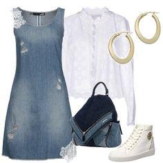 Con il jeans ma con stile  outfit donna Trendy per tutti i giorni  8aaaf1f6539