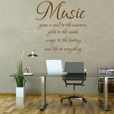 Wandtattoo  -  Music