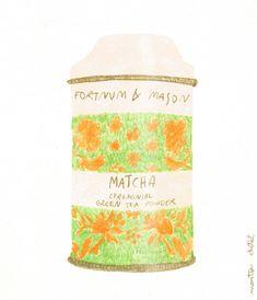 matcha tea tin, by Couldn't resist but drawing this beautiful tea tin Fortnum And Mason, Tea Tins, Matcha Green Tea, Illustration Artists, Hygge, Drawings, Winter, Beautiful, Winter Time
