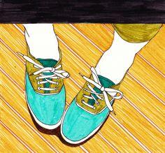 illustration  shoes