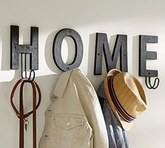 Alphabet Hook #potterybarn   -   Spelling out HOME just like in the picture @ $19 per letter = $76 total!