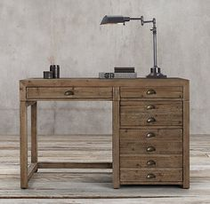"Restoration Hardware - Printmaker's 48"" Desk  Perfect !!!"