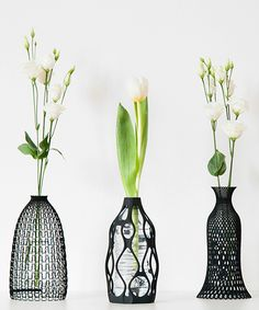 3D printed vases turn your recycled water bottles into design objects