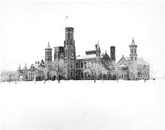 1967: Smithsonian Institution Building in the snow, Washington, D.C., photographer unknown, via Smithsonian Institution Commons on flickr. Two to sixinches of snow (and some sleet) are forecast fo…