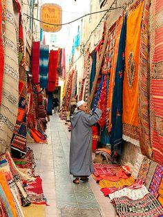 carpet market in morocco