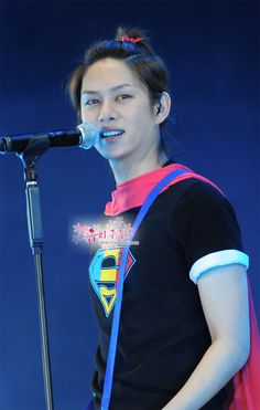 """Kim Heechul """"The most handsome man in the world!""""......of course he's Superman who else would he be?"""