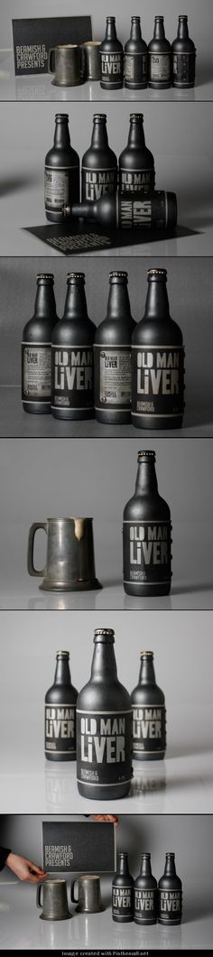 Old Man Liver Beamish Stout Rebrand