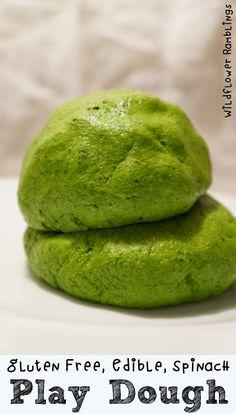 Gluten Free Edible Spinach Play Dough