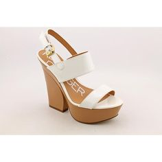 Kelsi Dagger Holly Womens Size 10 White Patent Leather Platforms Sandals Shoes >>> Tried it! Love it! Click the image. : Platform sandals
