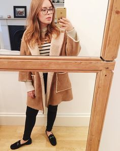 Tanya Burr More I love The jacket Fashion Images, Love Fashion, Winter Fashion, Fashion Outfits, Sherling Coat, London Fashion Bloggers, Classy Street Style, Tanya Burr, Marcus Butler