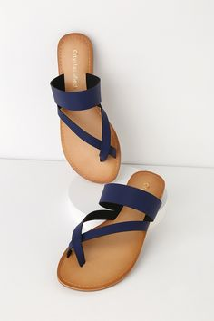 7addb2d1e82 27 Best Navy Sandals images in 2014 | Navy sandals, Wedges, Cleats