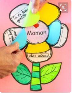 Comptine, carte et activiés pour la fête des mères (modification pour grand-maman, une tante ou une amie :)