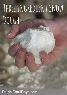 Three Ingredient Snow Dough - This stuff is really fun to mold and squish!