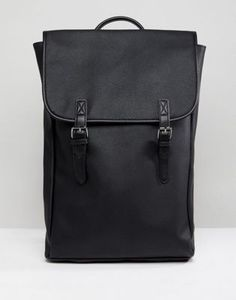 ASOS Backpack In Faux Leather With Double Straps