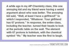 Geeky humour.