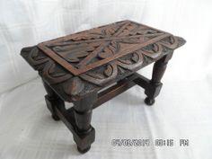 Antique solid oak footstool