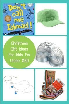 Christmas Gift Ideas For Kids Under $30 - a range of Christmas Gift ideas from something to read, to something to wear, to something to make!