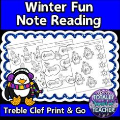 6 Pages of Winter themed printables for your music students to assess their knowledge of reading the notes on the lines and spaces of the treble clef - FACE/EGBDF. Great for sub plans, too! Created by the Totally Tuned-in Teacher, Tina Jones****This file is included in my Note Reading Through the S...