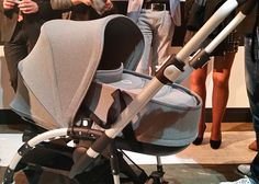 Exclusive first look at the Bugaboo Bee3. Stronger chassis, bigger basket, optional hard-bottomed bassinet accessory, new sleeker fabric, great new colors (grey melange, bright yellow, soft pink and ice blue), improved harness, re-done wheels. Available at NessaLee Baby!
