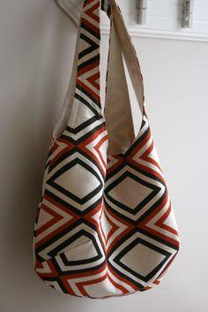 Reversible bags, uses 1/2 yard of each fabric.