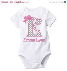 APRIL SALE Chevron Monogram Personalized Baby by NextLevelDesigns, $11.25