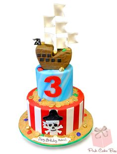 """Arrr"" Top 5 Pirate Cakes by Pink Cake Box in Denville, NJ.  More photos and videos at http://blog.pinkcakebox.com/argh-top-5-pirate-cakes-2013-11-02.htm"