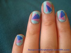 Eighties triangles (inspired by Nailside) Triangles, My Nails, Manicure, Nail Manicure, Nails