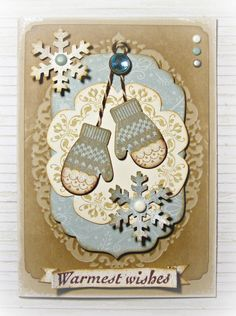 Maybe´s Card: Make a Mitten - love the punch  stamps by StampinUp :o))