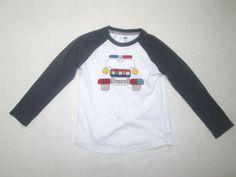 802251b25 Boys POLICE Car applique shirt 6 7 custom made cotton white Old Navy  FREESHIP #