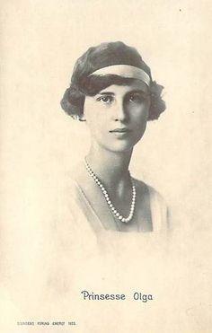Princess Olga of Greece and Denmark.  Daughter of Prince Nicholas of Greece and Denmark and Grand Duchess Elena Vladimirovna of Russia.  Sister of Marina and Elizabeth. Married Prince Paul, Regent of the Kingdom of Yugoslavia.