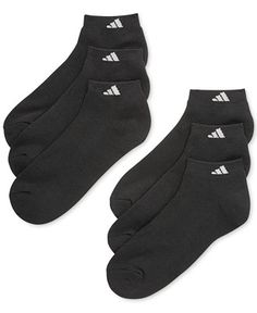 adidas Men's Athletic Performance Low-Cut Socks 6-Pack - Underwear - Men - Macy's