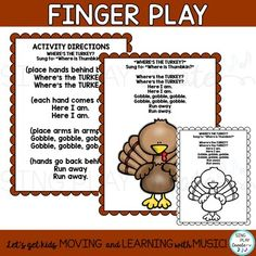 FREEBIE: Thanksgiving Turkey Poem, Song, Fingerplay